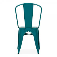 Tolix Bistro Chair Tolix Style Teal Side Chair Bistro Chairs By Cult Uk
