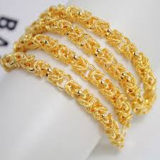gold pendant chain necklace images Wholesale latest fashions plated 24k gold necklace men do not fade jpg