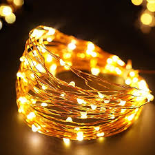 solar powered string lights bright zeal 33 8 mode solar powered string lights warm white