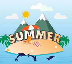 summer decoration summer holiday banner island sea vacation decoration free vector in
