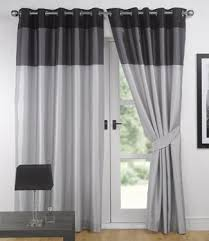 Black Curtains 90x90 Silver And Black Curtains Amazon Co Uk