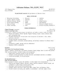 mental health counselor job description adrianne steiner resume