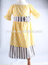 factory price short sleeve ruffles baby dress cutting for kids