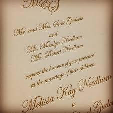 wedding invitation wording wedding invitation wording divorced parents letterpress wedding