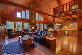 Beautiful Log Home Interiors Log Home On Lake Adger In Mill Spring Nc