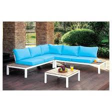 Patio Furniture Conversation Set Sawyer 3pc Metal Patio Conversation Set Furniture Of America