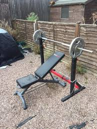 weight bench squat rack dip station with removable bench u0026 100kg