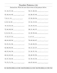 4th grade math patterns worksheets worksheets