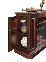 Fireplace Entertainment Stand by Deluxe Fireplace Entertainment Center Amish Deluxe Fireplace