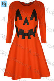womens ladies halloween costume skull smock web spider flared mini