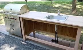 build an outdoor kitchen cabinet u0026 countertop with sink jon