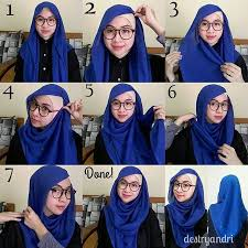 tutorial hijab segitiga paris simple 40 cara memakai jilbab segi empat modern terbaru fashion muslim