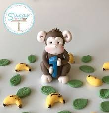 monkey cake topper monkey cake topper decoration plus age birthday christening ebay