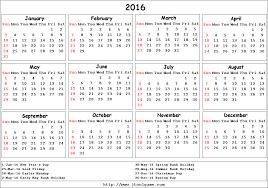 calendar template uk