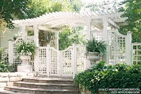 create backyard privacy with a trellis better homes and gardens