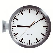 karlsson double sided wall clock two sided station clock