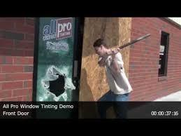glass door tinting film all pro window tinting front door security film demonstration