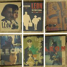 old home decor promotion shop for promotional old home decor on leon the professional poster classic old movie vintage poster retro nostalgia kraft paper wall stickers home decor