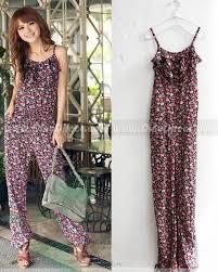 cotton jumpsuit aoefyer cotton floral print jumpsuit