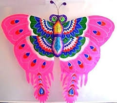 amazon com 3d pink butterfly kite outdoor wall