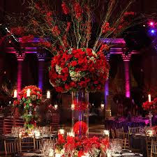Christmas Wedding Decor - red floral winter wedding decoration ideaswedwebtalks wedwebtalks