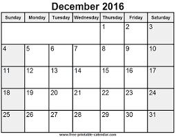 printable december 2016 calendar pdf 2016 calendar month