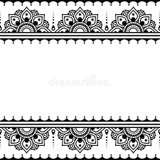 mehndi indian henna tattoo design greetings card lace ornament