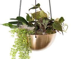 hanging planter basket copper hanging basket etsy