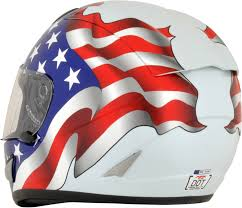 American Flag Visor Afx Unisex White Motorcycle American Flag Riding Street Racing