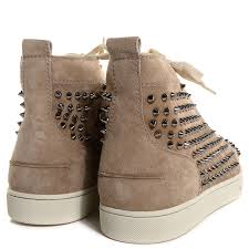 christian louboutin mens suede louis spikes flat sneakers 45 5