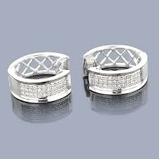 hoop huggie diamond hoop huggie earrings in sterling silver 30ct