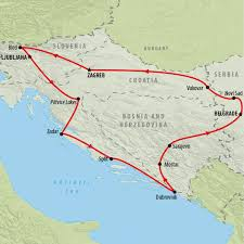 Odyssey Map Balkans Odyssey 11 Day Group Tour On The Go Tours Uk