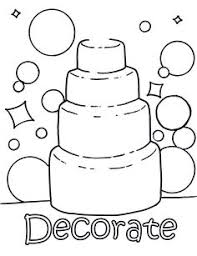 fancy wedding cake coloring wedding coloring pages print