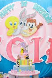 baby bday baby looney tunes birthday party zoie megan destination