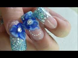 how to do beautiful winter roses 3d nail art manicure step by step