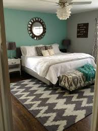 Grey And Teal Bedroom by Turquoise Wall Bedroom With Grey Accent Accent Color For