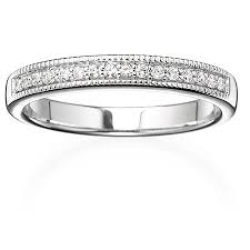 milgrain wedding band always forever platinaire 1 8 carat t w diamond milgrain