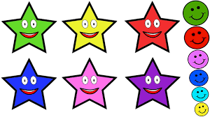 learn colours with smiley face stars u0026 balls colouring pages