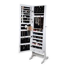 Jewelry Box Mirrored Armoire Amazon Com Gls White Floor Standing Cheval Mirror Jewelry Armoire