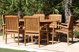 Teak Table And Chairs Sale 67in Oval Table U0026 6 Pacific Chairs Teak Set Oceanic Teak
