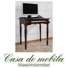 Pc Schreibtisch Klein Schreibtisch Pc Tisch Kolonial Braun Nußbaum Holz Massiv Bei Casa