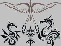 bird tribal tattoo stock vector image of scroll style 31656846