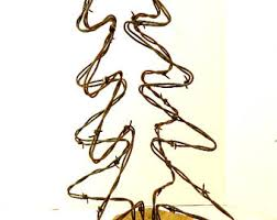 barbed wire tree etsy