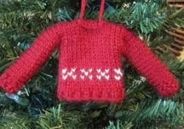 tiny sweater ornament allfreeknitting
