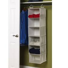 amazon com household essentials 6 shelf hanging closet organizer