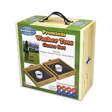 amazon com gosports premium birch wood washer toss game sports