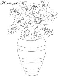 elegant flower pot coloring page 48 on free coloring book with