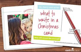 what to write in a christmas card and still sound like yourself
