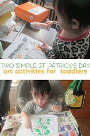 easy st patrick u0027s day art for toddlers