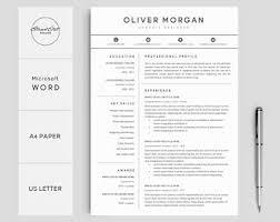 creative professional resume templates resume templates etsy